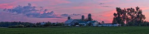 sunset panorama ontario canada clouds landscape farm gimp ordinarylandscape wellesleytownship waterlooregion microsoftice oloneo olympusomdem5