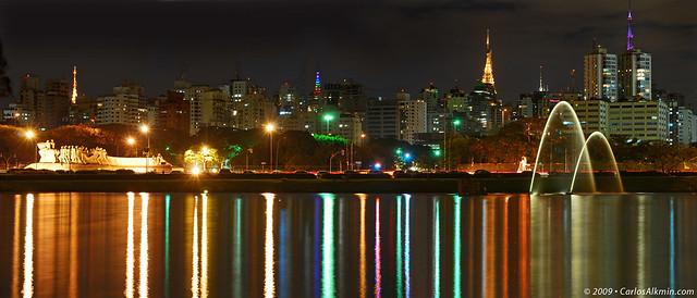 Luzes da pauliceia no lago / Sao Paulo lights over the lake