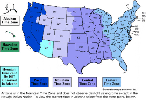 Map Of Arizona Time Zones.Us Time Zones Map Mike Windsor Flickr