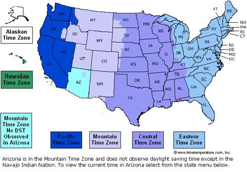 US Time Zones map | Mike Windsor | Flickr