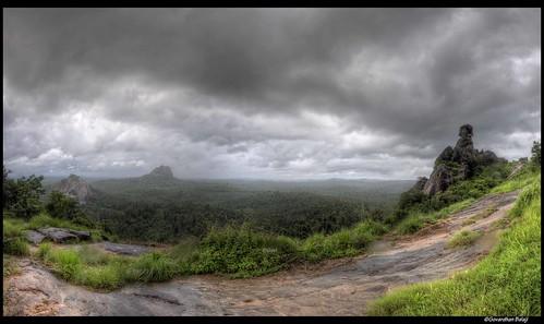 rock clouds landscape view kerala phantom hdr wayanad