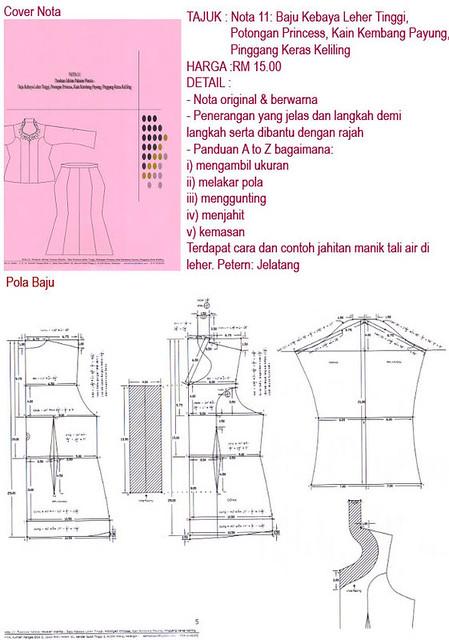 Nota 11 Baju Kebaya Leher T Azimawmc Flickr