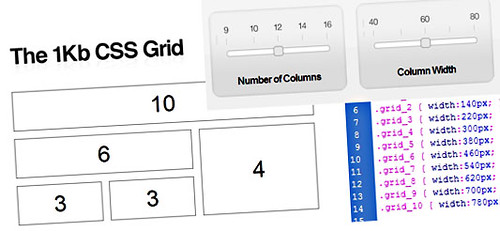 The 1KB Grid CSS - ¿Anchos fijos o variables?