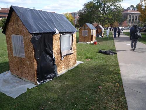Habitat for Humanity installation on the quad