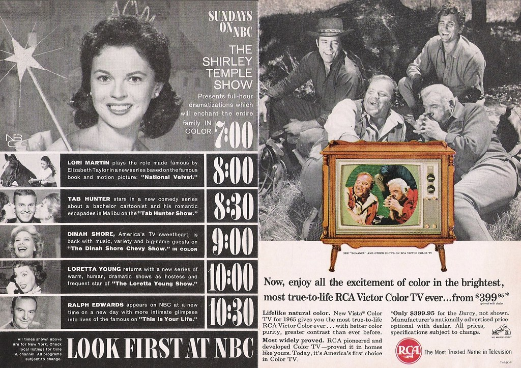 NBC Fall 1960 (sunday) | With a pasted in bonus ad for RCA C… | Flickr