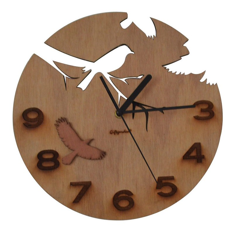 Giftgarden Wooden Home Accessories Wall Clocks
