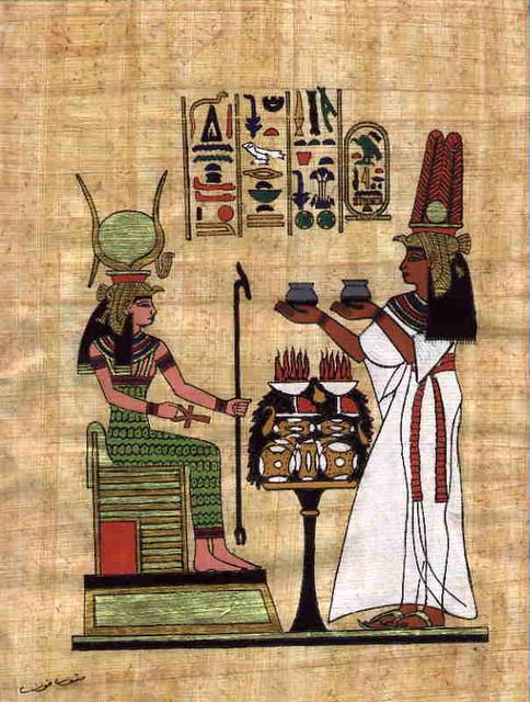 Dessin Sur Papyrus Egyptien Le Papyrus Cyperus Papyrus E