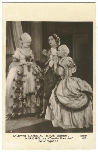 Figaro, with Arlette Marchal & E. van Duren & Marie Bell_JRPR; 307. Photo Roger Forster