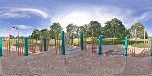 Playground - Equirectangular in Loretteville, Quebec City   by haban hero