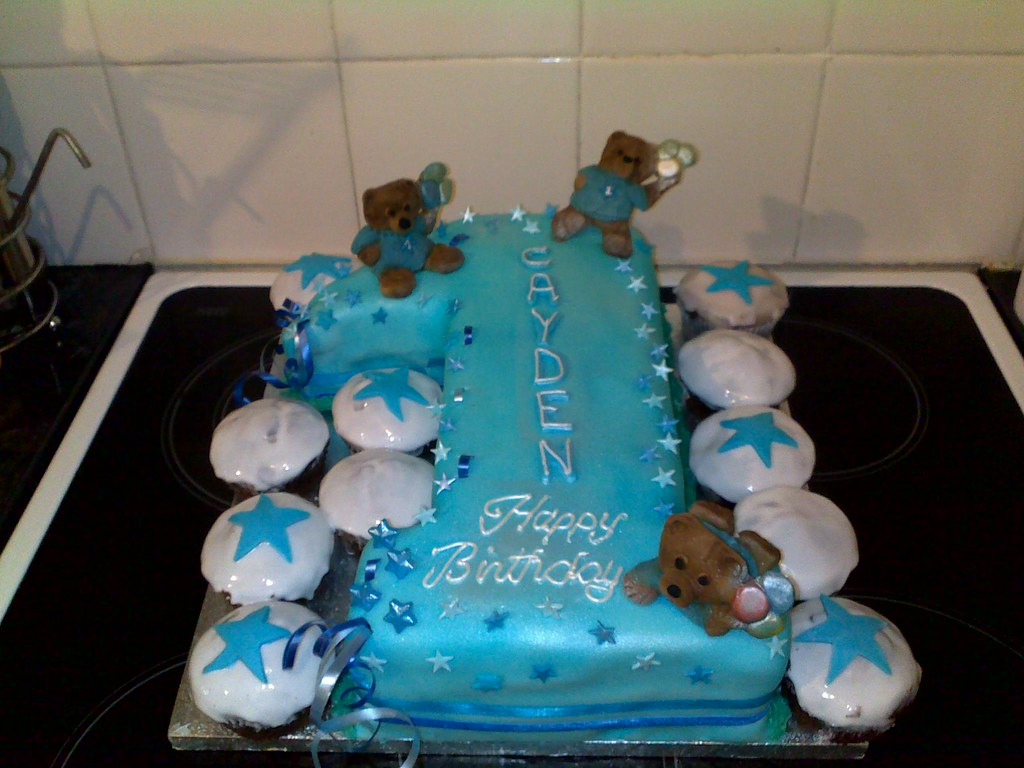 Enjoyable No 1 Birthday Cake Made For 1 Year Old Boy Eilish Lee Flickr Personalised Birthday Cards Veneteletsinfo