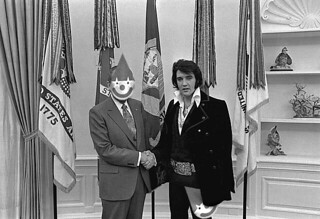 nixon and elvis - clownmask | by itsbeach