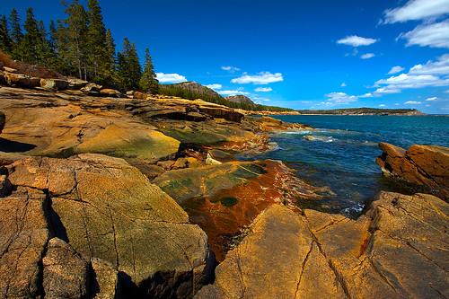 ocean park seascape mountains nature forest coast rocks maine shoreline rocky atlantic national shore rugged acadia doublyniceshot tripleniceshot