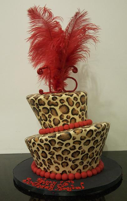 BC4159 - leopard print cake toronto