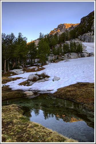 sunrise reflections nikon peak cascades enchantments d40 1855mmf3556gii