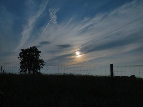 sky sun tree silhouette clouds fence evening twilight indiana livonia washingtoncounty p191 dschx1