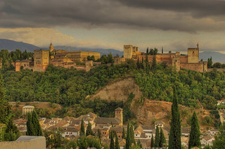 "Vista de la Alhambra desde el mirador de San Nicolas / View of the Alhambra from the ""Mirador de San Nicolas"" 