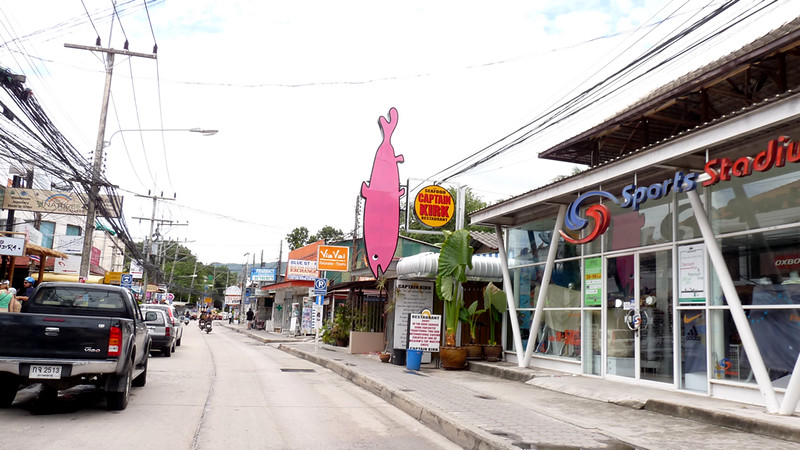 Koh Samui Chaweng Beach Road コサムイ チャウエンビーチロード1