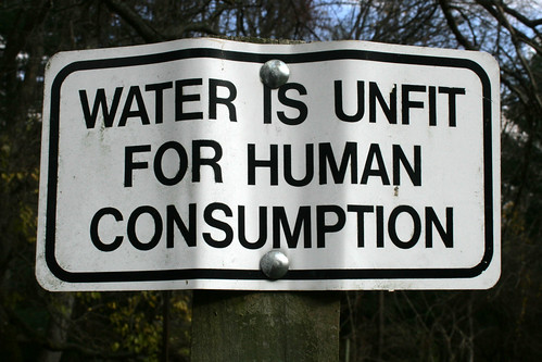 water is unfit for human consumption | by woodleywonderworks