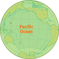 Pacific Ocean Location Map   Location map for the Pacific Oc ...