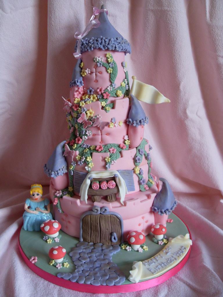 Honey S 1st Birthday Pink Castle Cake Derby Inspiration Ta Flickr