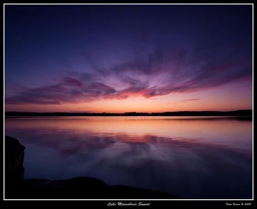 sunset summer newhampshire auburn nh therocks lakemassabesic peterbroom