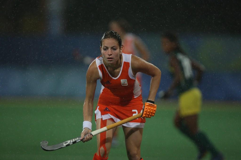 Eva de Goede of Amsterdam Dames 1 during the match between ... |Eva De Goede