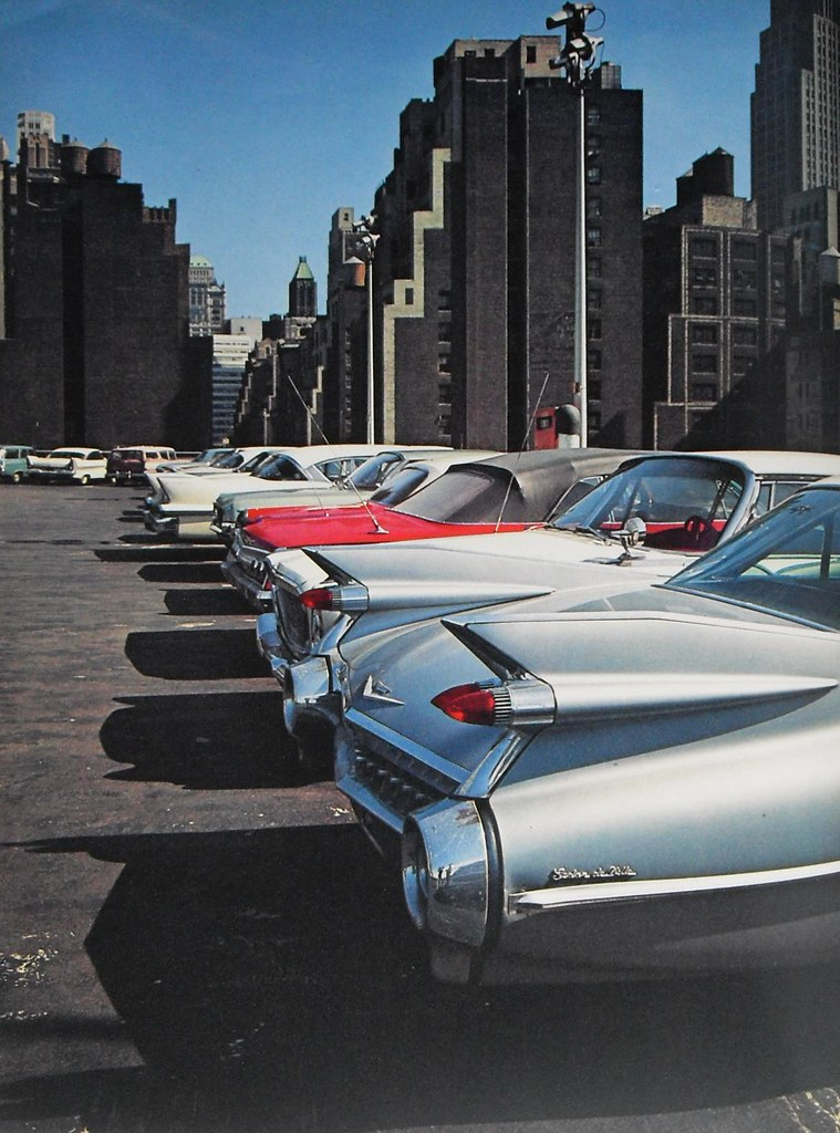 New York City Early 1960s Rooftop Parking Garage Vintage C