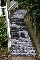Waterfall art on steps between Rawhiti Terrace and Kelburn Parade | by Alastair Smith