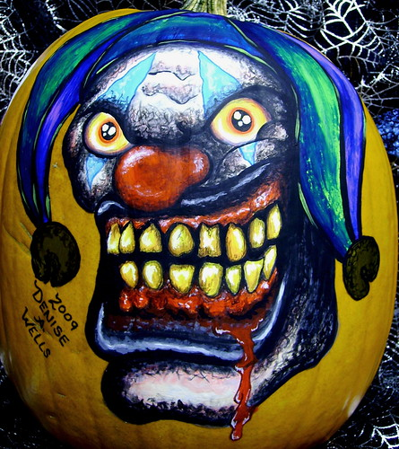 Pumpkin painting by Denise A. Wells
