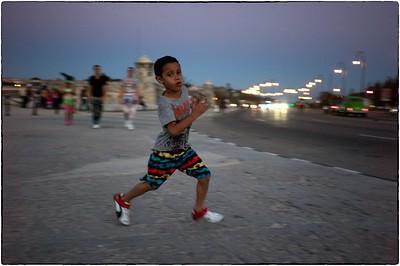 Running Boy, Havana, February 11, 2017