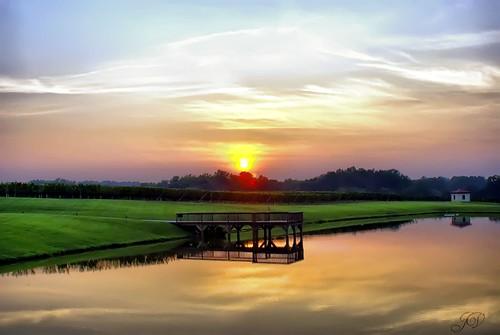 sunset sky sun lake color clouds landscape dock northcarolina hdr childressvineyards photomatix lexingtonnc jeanetterunyon