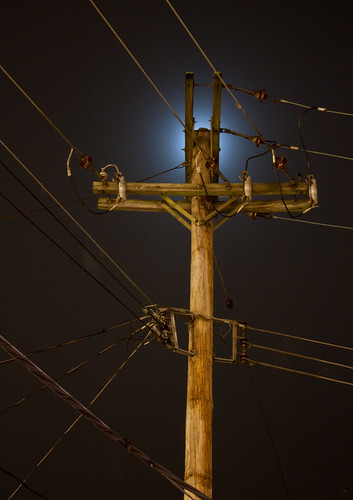 longexposure moon night glow pennsylvania telephone utility pole pa newhope telegraph penna threecranes southmainstreet