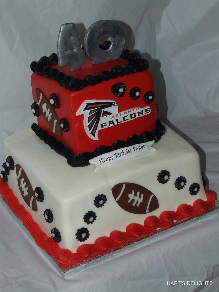 Super Altanta Falcons Birthday Cake Debbie Flickr Personalised Birthday Cards Akebfashionlily Jamesorg