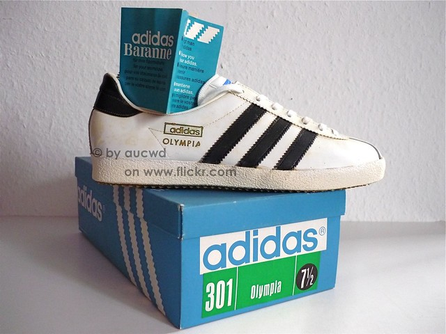 UNWORN 70`S 80`S VINTAGE ADIDAS OLYMPIA SHOES   made in