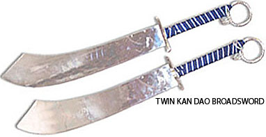 Twin Kan Dao broadsword | Kan Dao is a category of single-ed… | Flickr