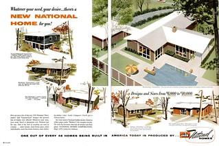 National Homes Ad - Life 1955