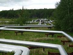 Tar sands developments in Alberta, Canada.
