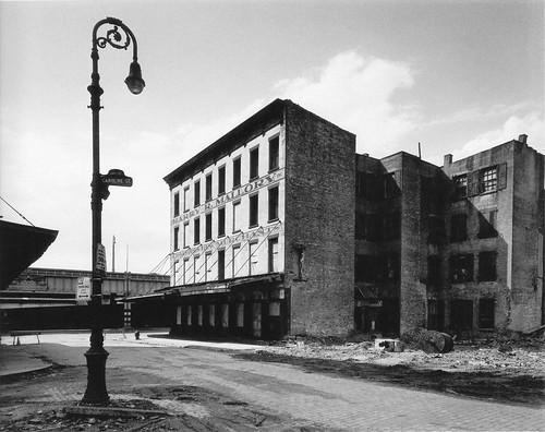 Abandoned 19th century buildings by West Street, the West Side Highway at end of Jay Street by Caroline Street.  Vestiges of a commerical past long gone on the Lower West Side. New York. 1967 | by wavz13