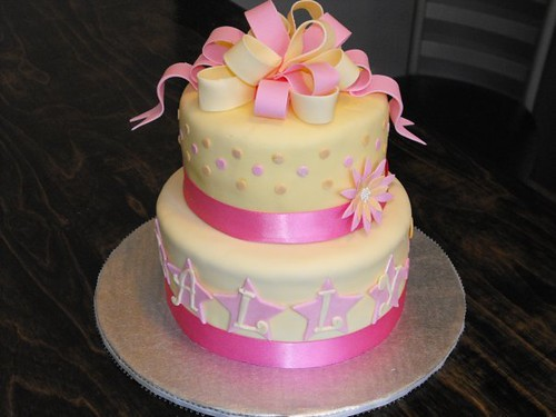 Surprising Pink And Yellow Birthday Cake Pink And Yellow Covered 6An Flickr Funny Birthday Cards Online Ioscodamsfinfo