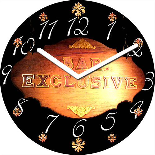 Bar Exclusive Clock | by customclockface