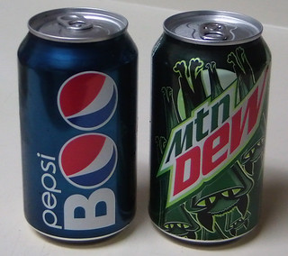 Halloween Pepsi cans