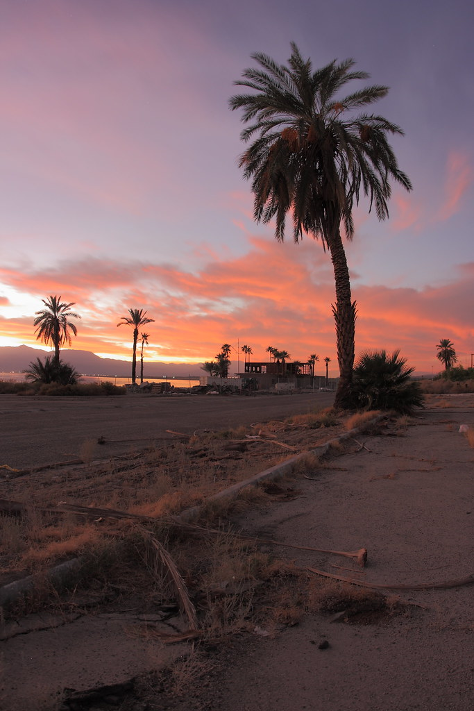 Sunset at the Salton Sea's North Shore Yacht Club
