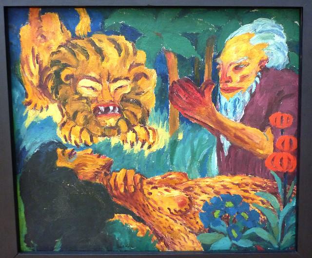 Emil Nolde: Heilige Maria Aegyptiaca - Rechte Tafel: Der Tod in der Wüste (1912)
