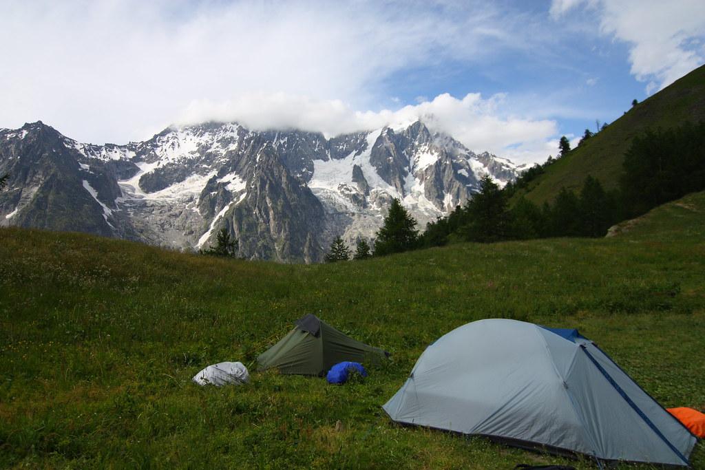 48f335ff6 Camping at Refuge Bertone - Tour du Mont Blanc | 7 Days on t… | Flickr