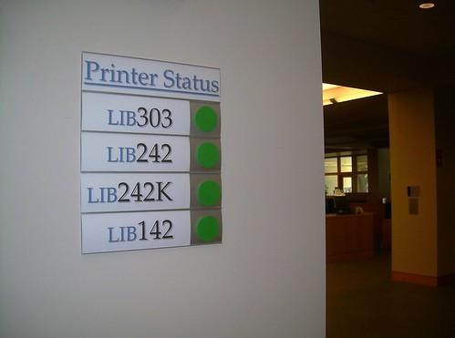 printer status board.jpg   by middlebury college LIS