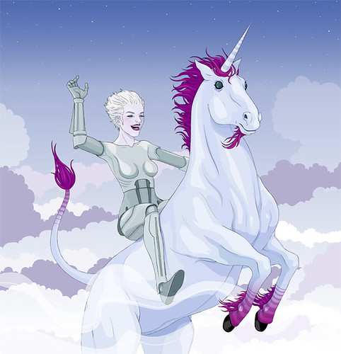 Xeni Rides a Unicorn, by Stuntkid, COILHOUSE #03 | by xeni