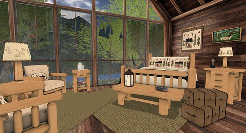 Finishing Touches Northwoods Lodge Bedroom Collection | by Hidden Gems in Second Life (Interior Designer)