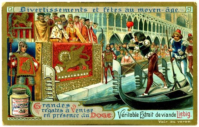 Liebig Tradecard S699 - Venetian Regatta