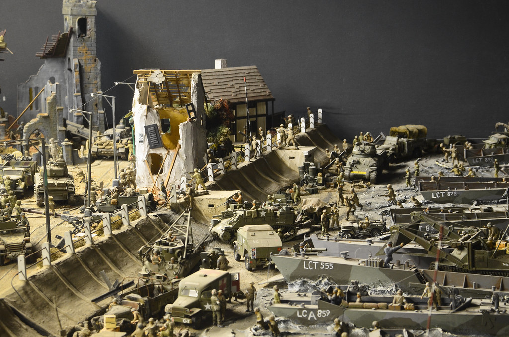 D Day Landing Diorama - 2   A diorama of a D Day landing at