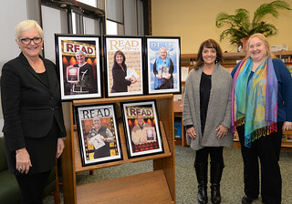 Thu, 01/26/2017 - 14:08 - Standing left to right are Maryanne Arena, Marie Iglesias-Cardinale and JoNelle Toriseva, all honored at 2017 READ Poster Project reception last week at GCC.